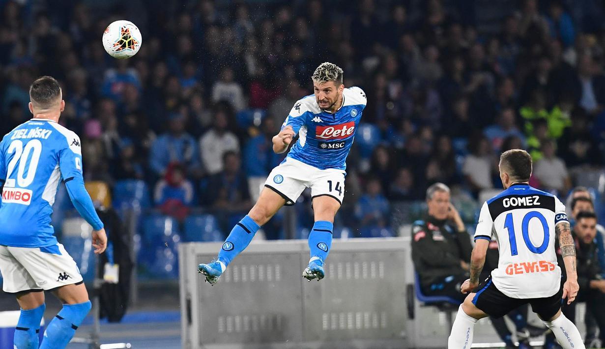 Lozano's double leads Napoli to 4-1 win over Atalanta ...  |Napoli- Atalanta